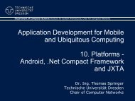 Android, .Net Compact Framework and JXTA - Faculty of Computer ...