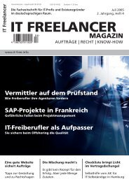 IT Freelancer Magazin Nr. 4/2005