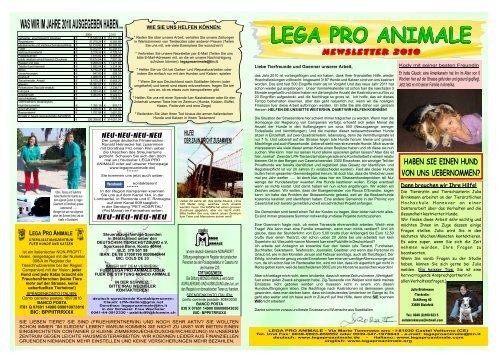 Jahresbericht 2010 deutsch.cdr - Lega Pro Animale