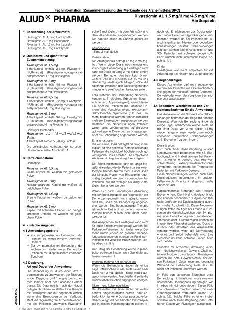 Fachinformation - Aliud Pharma GmbH & Co. KG