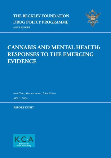 Cannabis and Mental Health: Responses to the Emerging - Beckley ...