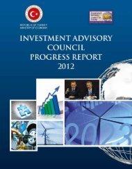 investment advisory council progress report - 2012