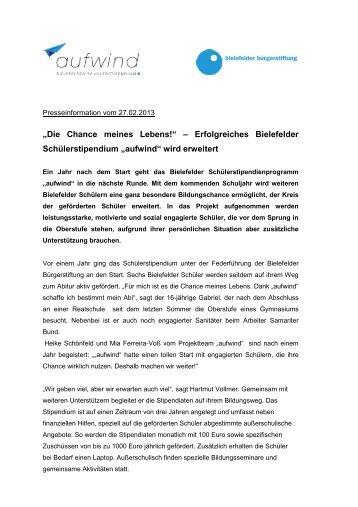 27.02.2013 - Bielefelder Bürgerstiftung