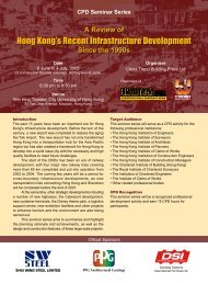 Hong Kong's Recent Infrastructure Development Hong ... - Building.hk