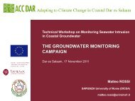 Workshop slides, M. Rossi 4 - Adapting to Climate Change in ...