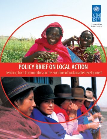Policy Brief on Local Action: Lessons from ... - Equator Initiative