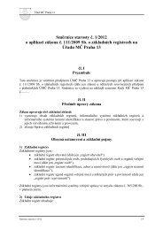 Příklad vnitřní směrnice pilotní projekt. - Správa základních registrů