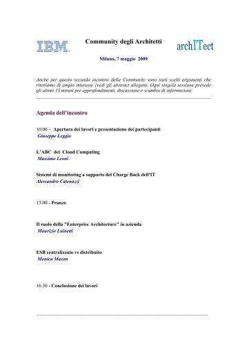 Community degli Architetti - Guide Share Italia