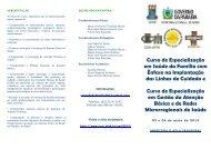 Folder especialização - Centro de Ciências Médicas