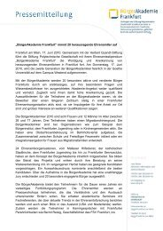 BürgerAkademie Frankfurt - Herbert-Quandt-Stiftung
