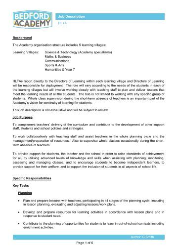 procedure for handling enquiries about the ... - Bedford Academy