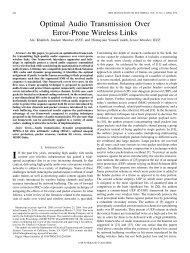 Optimal Audio Transmission Over Error-Prone ... - IEEE Xplore