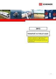 Schenker AB, Transport av farligt gods