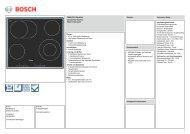 Technische Daten Bosch PKN 645E14 - VS Elektro