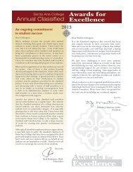 2013 Classified Award Booklet - Santa Ana College