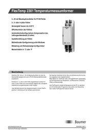 FlexTemp 2301 Temperaturmessumformer - Baumer