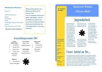 Edelweiss-Blaettle 2007 - Musikverein Weitmars