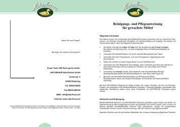Pflegeanweisung - Naturhaus Pflegeservice GmbH