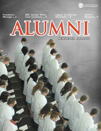 NEWSLETTER FALL 2012 - College of Pharmacy - University of Utah