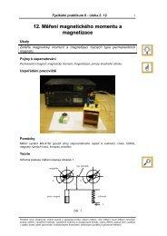 12 Měření magnetického momentu a magnetizace