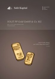 SOLIT PP Gold GmbH & Co. KG - SOLIT Kapital GmbH