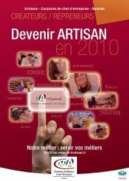 15x21 DEVENIR ARTISAN 2010.indd - Chambre de métiers et de l ...