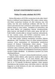 esitelmä 10.5.1931 - Pekka Ervast