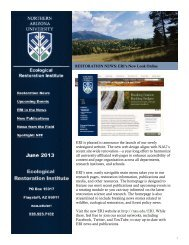 View the PDF document - Ecological Restoration Institute - Northern ...