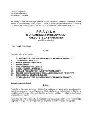 P R A V I L A - Fakulteta za farmacijo - Univerza v Ljubljani