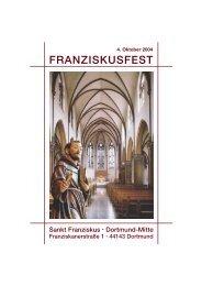 FRANZISKUSFEST - St. Franziskus Kirche