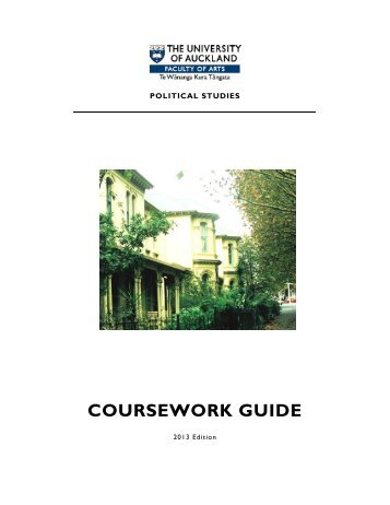 Political Studies Coursework Guide 2013 - Faculty of Arts - The ...