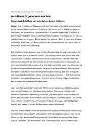 Erik Matz, seit zehn Jahren Kantor in - Kirchenmusik an St. Marien ...