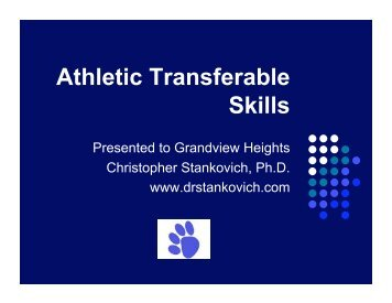 Athletic Transferable Skills - Grandview Heights City Schools