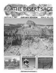 THE DESERT SAGE - Sierra Club - Angeles Chapter