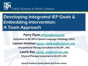 Embedding Intervention - Orange County Schools