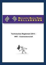Technisches Reglement Clubmeisterschaft 2014 - WRT-Hollabrunn