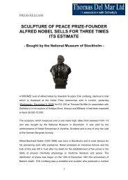 Post Sale Press Release - Thomas Del Mar