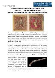 Pre-Sale Press Release - Thomas Del Mar