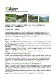 Programma Campo scuola 5 giorni - Parco Nazionale d'Abruzzo ...