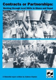 Contracts and Partnerships: Working through local NGOs ... - WaterAid