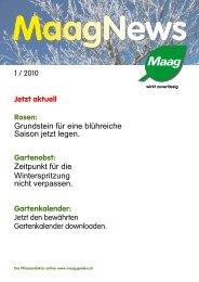 1 / 2010 Jetzt aktuell Rosen: Grundstein für eine ... - Maag Garden