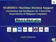 MARIDES: Maritime Decision Support