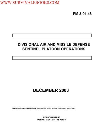 FM 3-01.48 DIVISIONAL AIR AND MISSILE ... - Survival Books
