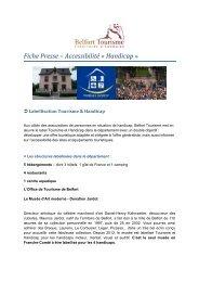 Fiche Presse – Accessibilité « Handicap » - Belfort Tourisme