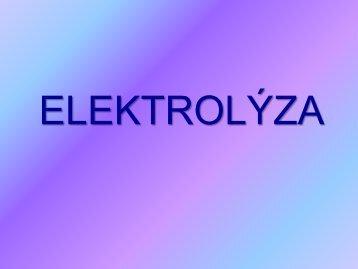 Elektrolýza roztoku kuchyňské soli Děj na anodě (kladné elektrodě)