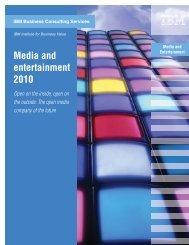 Media and entertainment 2010 - IBM