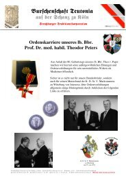 Ordenskarriere unseres lb. Bbr. Prof. Dr. med. habil. Theodor Peters ...