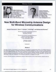 New Multi-Band Microstrip Antenna Design for ... - Cosmiacpubs.org