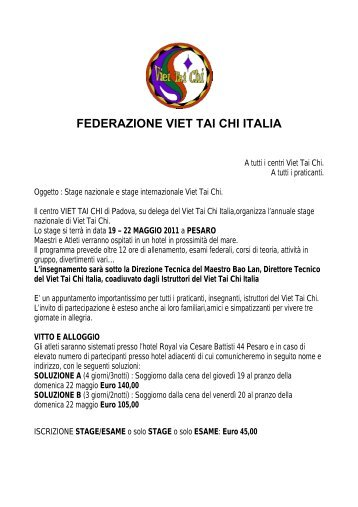 FEDERAZIONE VIET TAI CHI ITALIA
