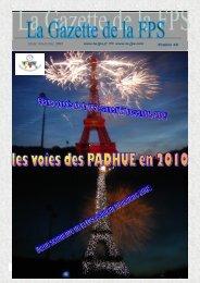 La Gazette de la FPS / 3ème trimestre 2009 / N° 48 Page 1